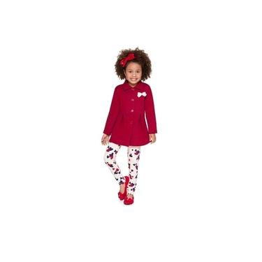 Conjunto Casaco e Calça Legging Inverno Feminino Para Menina Brandili - Ref. 53498
