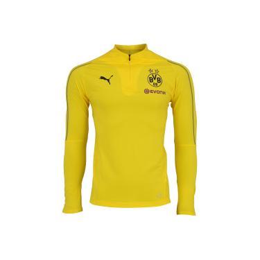 Jaqueta Borussia Dortmund 1 4 Training Puma - Masculina - AMARELO Puma e9401dfe6b5ce
