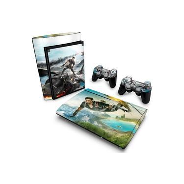 Skin Adesivo para PS3 Super Slim - Just Cause 2