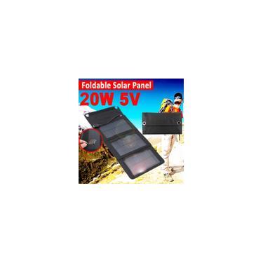 20 W Carregador de Painel Solar Portátil DC5V USB Dobrável Power Bank Para Ao Ar Livre Camping
