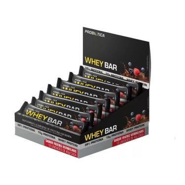Whey Bar Probiótica Caixa Com 12 Unidades - Frutas Vermelhas