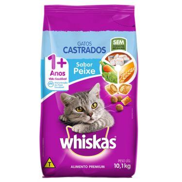 Ração Whiskas Gatos Castrados Peixe 10,1 Kg