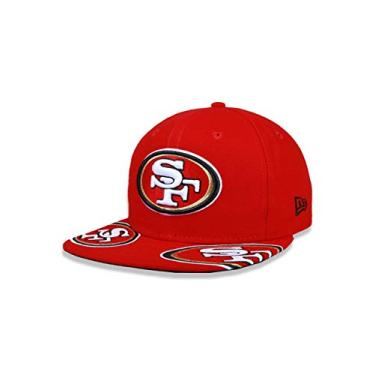 f315cafd66 BONE 950 ORIGINAL FIT SAN FRANCISCO 49ERS NFL ABA RETA SNAPBACK VERMELHO NEW  ERA