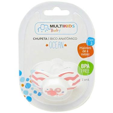 Chupeta Ocean PP Tamanho 2 (6-18 M), Multikids Baby, Rosa