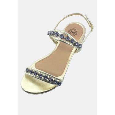 Sandália Rasteirinha Tendência Modelo Moda Estilosa Flats Dourado  feminino
