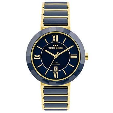 c44a1afd1ca Relógio Feminino Technos Analógico Cerâmica Vidro Safira 2015Ce 5A Azul