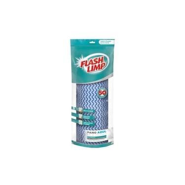 Panos Perfex Rolo Com 50un Azul Multiuso Limpeza Flash Limp