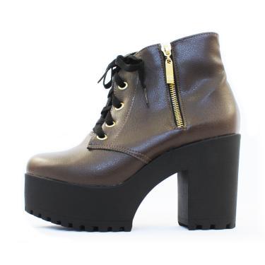 9c4b2b6b483 Bota Jenn Damannu Shoes Napa Café feminino