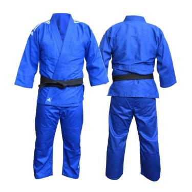 """ADIDAS Judo Uniform """"CLUB"""" Sem Cinta, Azul /BCO 180"""