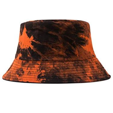 KESYOO Chapéu Balde de Algodão Dupla Face Proteção Solar Chapéu Pescador Outdoor Chapéu de Verão Chapéu de Praia para Exterior Vermelho, Laranja, 45.5*40*6cm