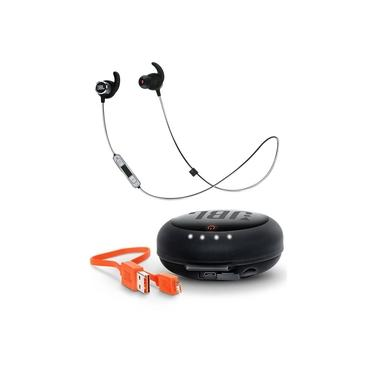 Fone JBL Reflect Mini 2 Blue + Carregador Headphone JBL