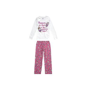 Pijama Picolés E Corações Neon Menina - Malwee Liberta