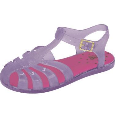 Sandália Flib Infantil Festa Plástico Violeta  menina