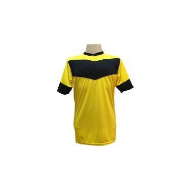 Jogo de Camisa com 18 unidades modelo Columbus Amarelo Preto + Brindes 33b3ddccd4ab6