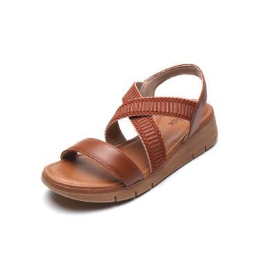 Sandália Usaflex Tiras Cruzadas Caramelo Usaflex AD1905 feminino