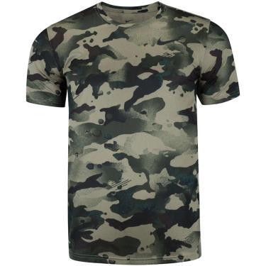 Camiseta Nike Pro Slim Camo Masculina CZ1252-337, Cor: Verde Militar/Verde escuro, Tamanho: P