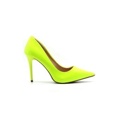 Scarpin Royalz Verniz Neon Fluorescente Penélope Amarelo
