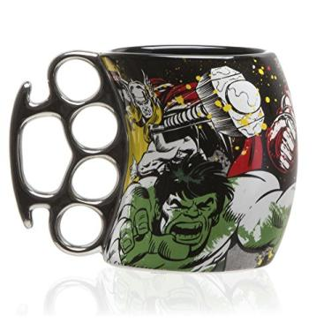 Caneca Soco Ingles Marvel Herois 350ml