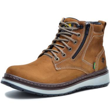 Bota Worker Over Boots Couro Mostarda Urban  masculino