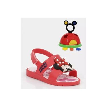 Sandália Infantil Minnie Acompanha Brinquedo Grendene
