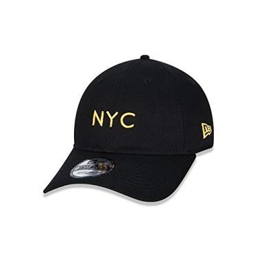 BONÉ 9TWENTY SIMPLE SIGE FLUOR NYC NEW YORK CITY NEW ERA - Preto e Amarelo