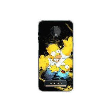 Capa para Moto Z3 Play - Simpsons | Homer e Bart