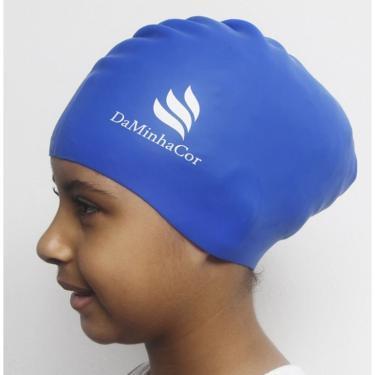 Touca Afro de Natação e Banho Cabelo Curto Daminhacor - Azul