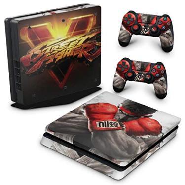 Skin Adesivo para PS4 Slim - Street Fighter V