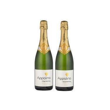 Combo 2 Espumante Sem Álcool Appalina Chardonnay - 750Ml