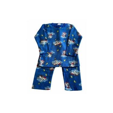 Pijama Infantil Soft Estampado Menino Noite Azul