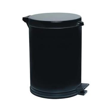Lixeira Preta C/Pedal Recipiente Plástico 10,5 Lts - Viel