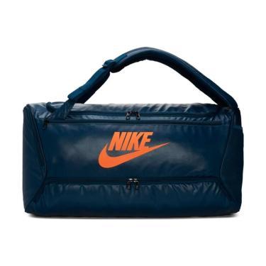 Bolsa Nike Brsla Duff BA6395-464, Cor: Azul escuro/Laranja, Tamanho: U