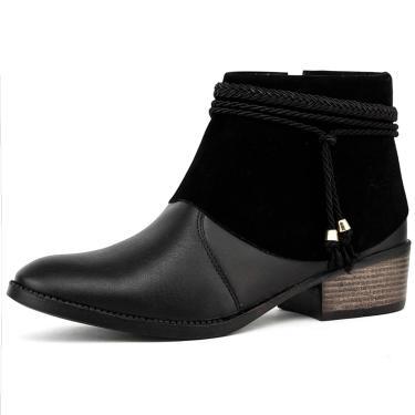 Bota Elegancy Ankle Bootspikes Preto  feminino