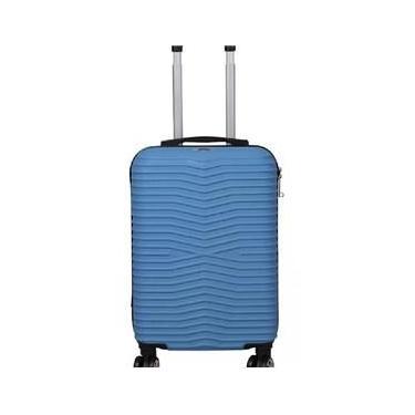 Mala De Viagem Pequena De Bordo Santino Tsa Azul Turquesa