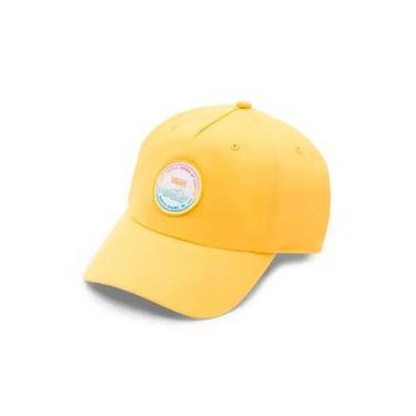 Boné Vans Dad Hat Vtcs Logo Lemon Chrome - Strapback