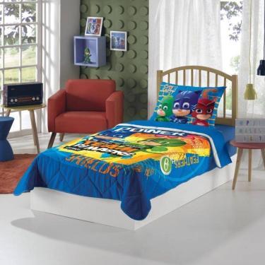 a46fd7595b Edredom Infantil Lepper Estampado PJ Masks - Azul
