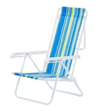 Cadeira de Praia Reclinável De Aço 8 Posições - Mor