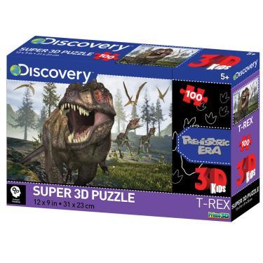 Imagem de Quebra Cabeça Super 3D Modelo Dinossauros na Pré-História com 100 Peças Multikids - BR1058 BR1058