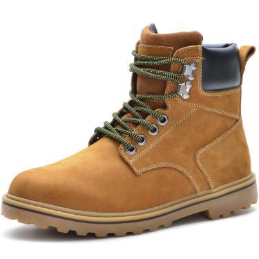 Bota Work Over Boots W01 Couro Amarelo  masculino