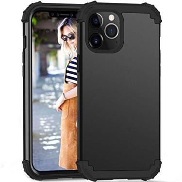 Capa ZERMU adequada para iPhone 12 Mini 5,4 polegadas, proteção à prova de choque de plástico rígido + silicone Armor Defender resistente a alto impacto bumper capa protetora antirriscos para iPhone 12 Mini 5,4 polegadas 2020