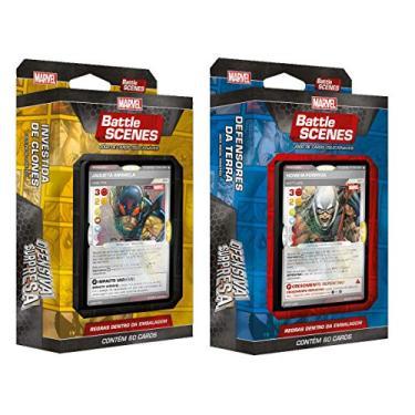Imagem de 2 Decks Marvel Battle Scenes Ofensiva Surpresa Homem-Formiga e Jaqueta Amarela Copag SUIKA