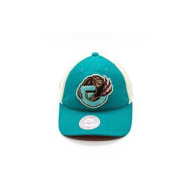 Boné Mitchell & Ness NBA Aba Curva Snapback Trucker Vancouver Grizzlies Azul