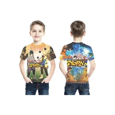 Camiseta Naruto Ninja Storm Estampa Total Infantil