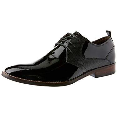 Sapato Social Ferracini Caravaggio Verniz Preto 42
