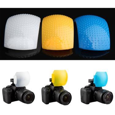 Imagem de Difusor para soft box, branco, azul, laranja, para flash interno, para canon, nikon, sony, para