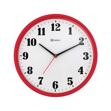 c15ebeefc57 Relógio Parede Herweg 6126 269 Analogico 26Cm Vermelho