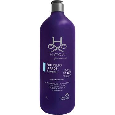 Shampoo Pet Society Hydra Groomers PRO Pelos Claros para Cães e Gatos - 1 Litro
