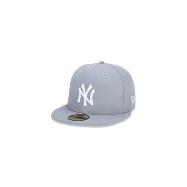 Bone 59fifty Aba Reta Fechado New York Yankees Mlb Aba Reta Cinza New Era