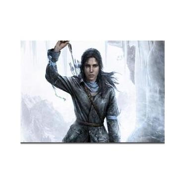 Quadro Decorativo Jogo Rise Of The Tomb Raider 1 Peça