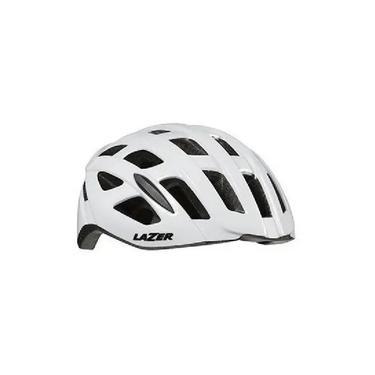 Capacete Ciclismo Speed Lazer Tonic Branco Lzb-10 Tam G